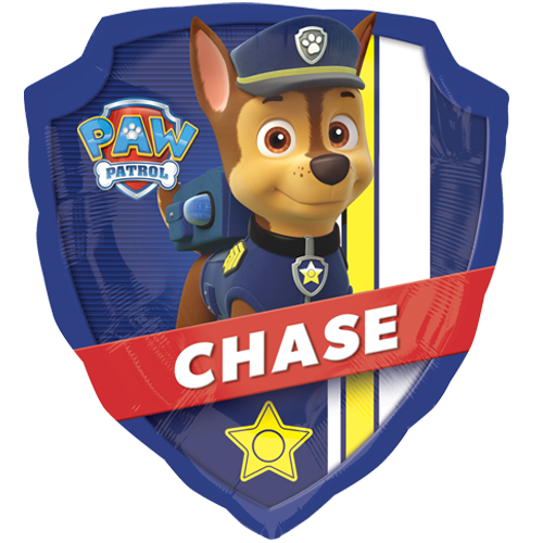 27 paw patrol chase and marshall supershape foil balloon